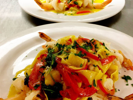 Saffron pappardelle at Vincent's - a feast for all your senses
