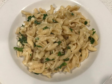 Recipe - GF fusilli with butter, parmesan, and parsley
