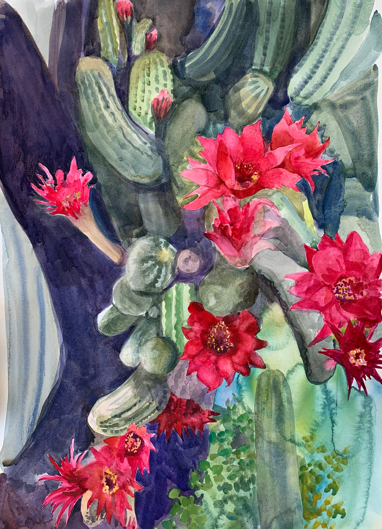 Available - Watercolor Painting - Blooms in Chaos