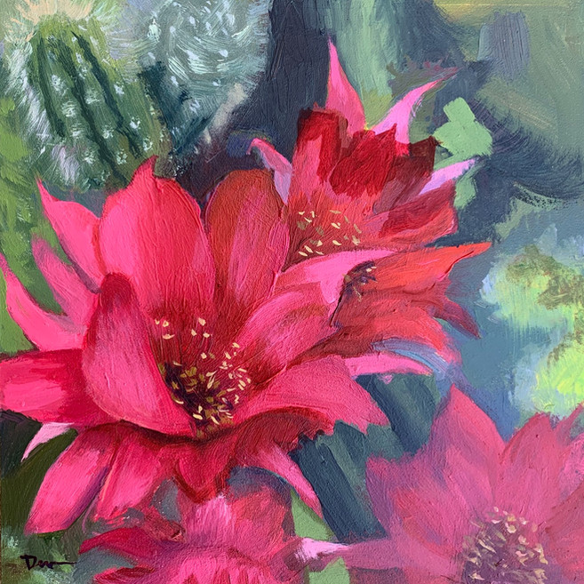 Available - Oil Painting - Desert Blooms 2