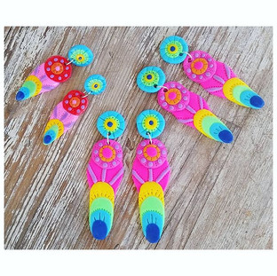 Peacock Feather dangles