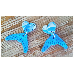 Whale tail dangles