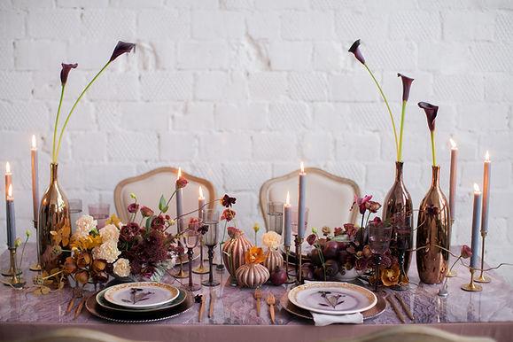 Decoración de la mesa festiva