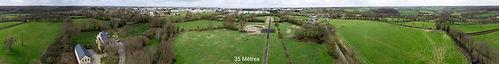 Panoramique, aérien, 360°, repérage, implantation, antenne,pylône, drone, Maine et Loire, Saumur,