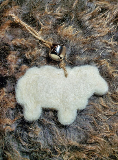 Felted Sheep Ornament Kit