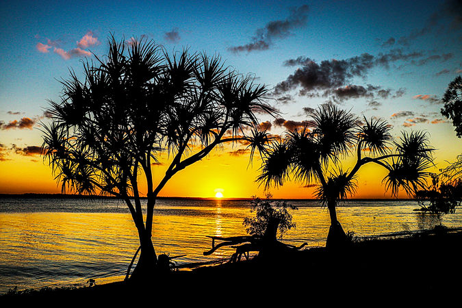 Another beautiful sunrise in Hervey Bay today.