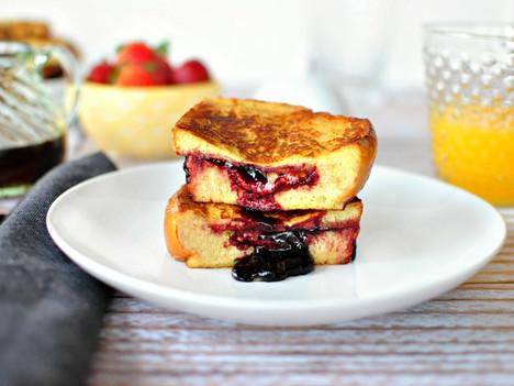 Stuffed French Toast with Strawberry Jam