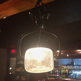 """""""Ice Block"""" light for Watershed Tavern in Boothbay Maine"""
