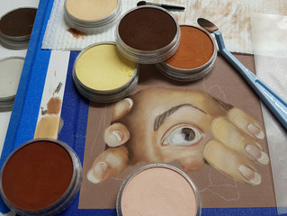 Painting skin tones with Pan Pastels