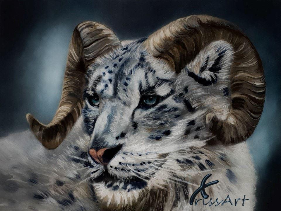 Fire - Big Horn Snow Leopard