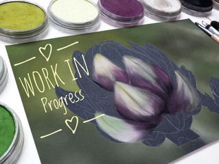 Artichoke with PanPastels and Bristle Brushes