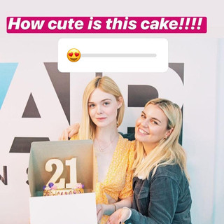 Birthday Cake for Elle Fanning presented by Tanya Rad of iHeartRadio