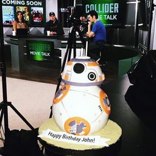 BB8 Cake on Collider Movie Talk