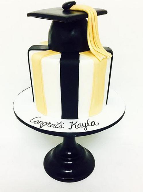 Striped Grad Cake