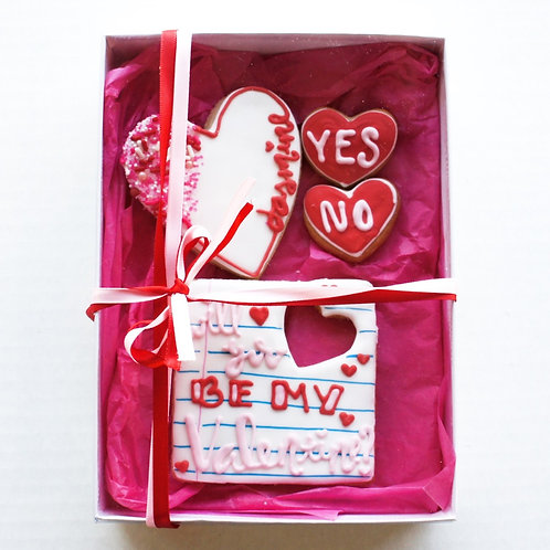 Will You Be My Valentine Cookie Box
