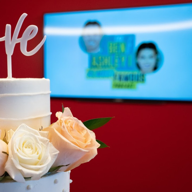 Cake for Ashley Iaconetti and Jared Haibon's Bridal Shower Presented by iHeartRadio & Almost Famous Podcast