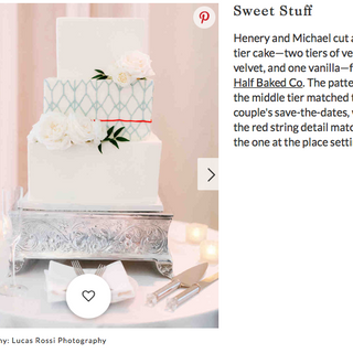 Vegan Wedding Cake Feature on Martha Stewart Weddings