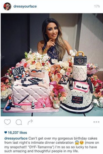 Tamanna Roashan's birthday cakes