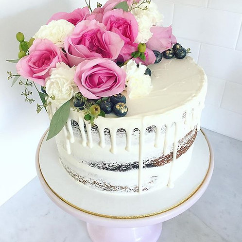 Fresh Floral Dessert Cake