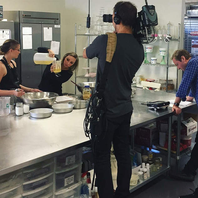 Filming for Food Network's Hollywood Cakes