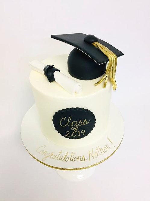 Grad Cap & Diploma Cake