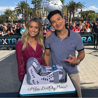 Cake for Mario Lopez on Extra TV
