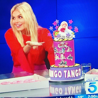 Cake to Celebrate Wango Tango presented by iHeartRadio's Tanya Rad on KTLA