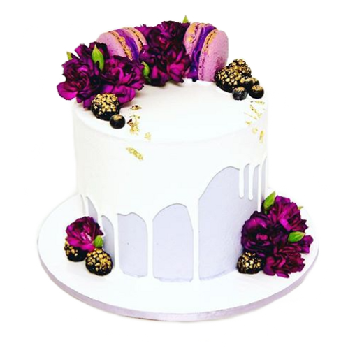 Macaron Floral Dessert Cake