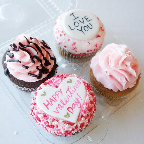 Valentine's Day Cupcake 4-Pack