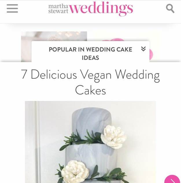 Top Vegan Wedding Cakes on Martha Stewart Weddings