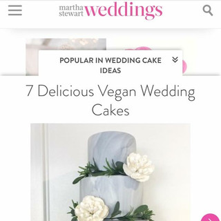 Top Vegan Wedding Cakes on Martha Stewart Weddings