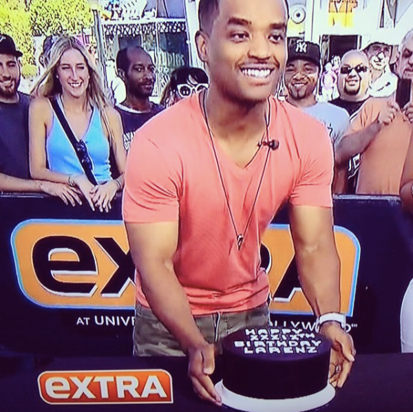 Birthday Cake for Larenz Tate on Extra TV