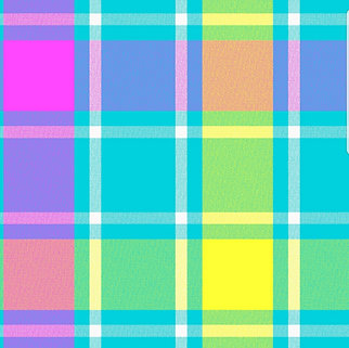 Pink, Blue & Yellow Plaid (Over the Collar)