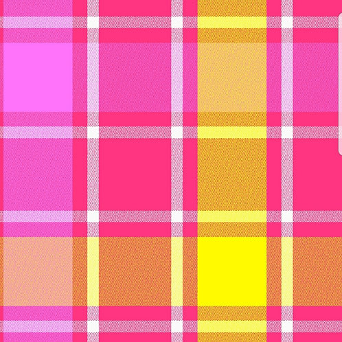 Pink Plaid (Over the Collar)