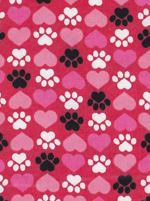 Paws & Hearts (Pink) (Over the Collar)