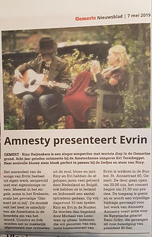 Amnesty presenteert Evrin