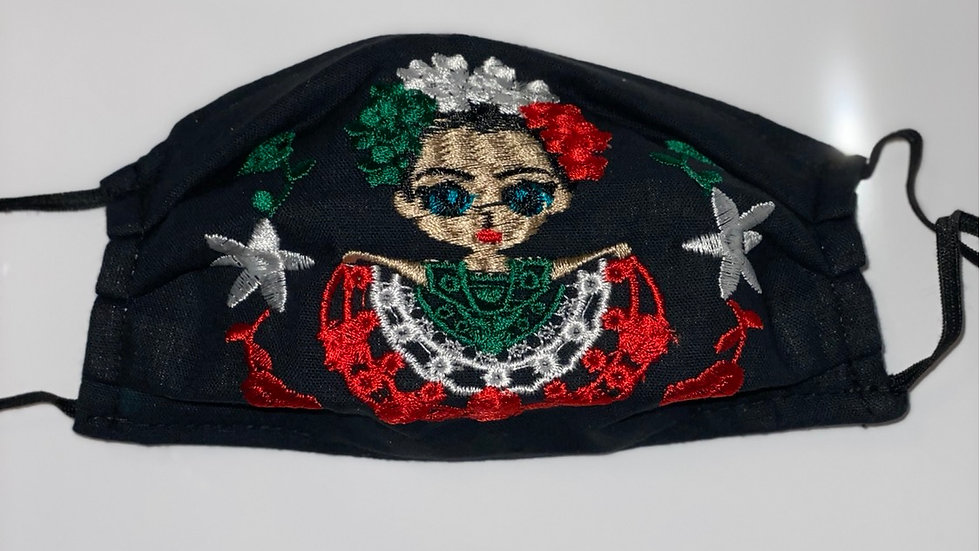 Frida Embroided Facemask