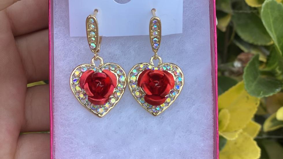 Rosa brillando earrings