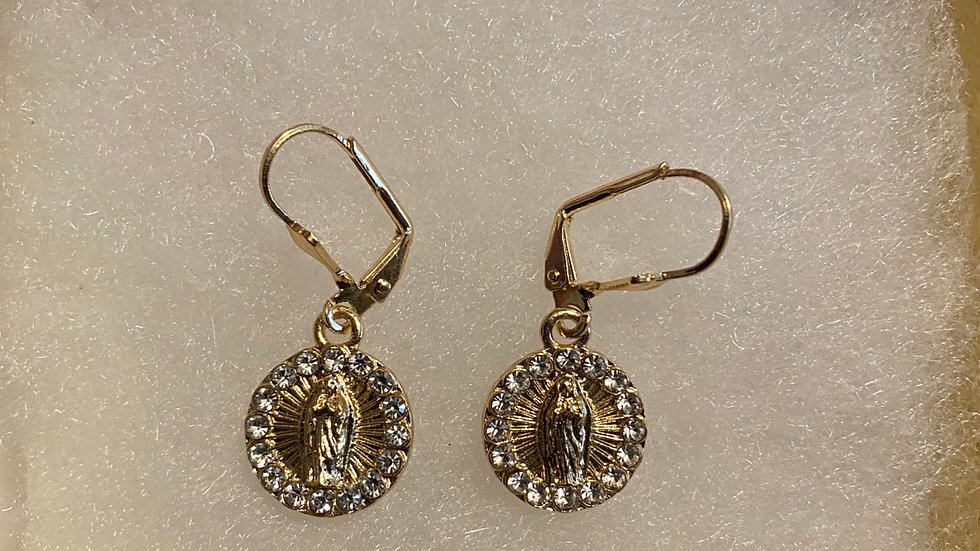 Virgencita brillando earings