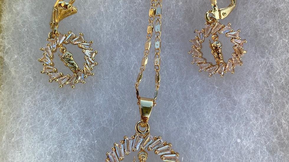 San Judas iced gift set w/ earrings