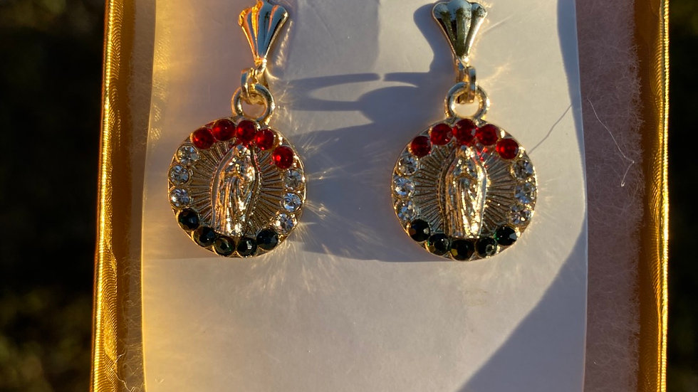 Virgencita Tri color earrings