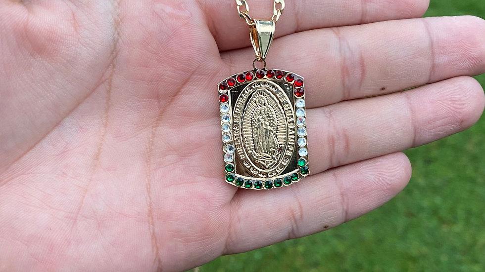 Virgen Tri color cuadrada