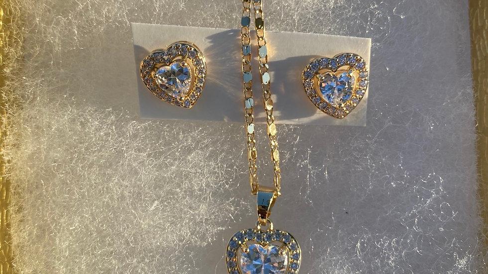 Corazón 💓 brillando Gift ser w/ earrings