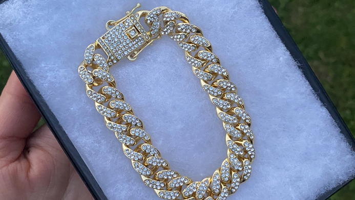 Cuban Link iced out bracelet
