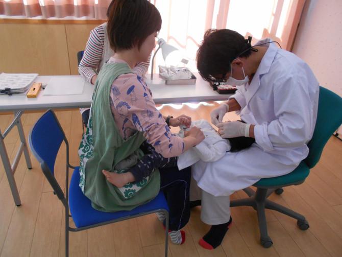 歯科検診、全園児健康診断