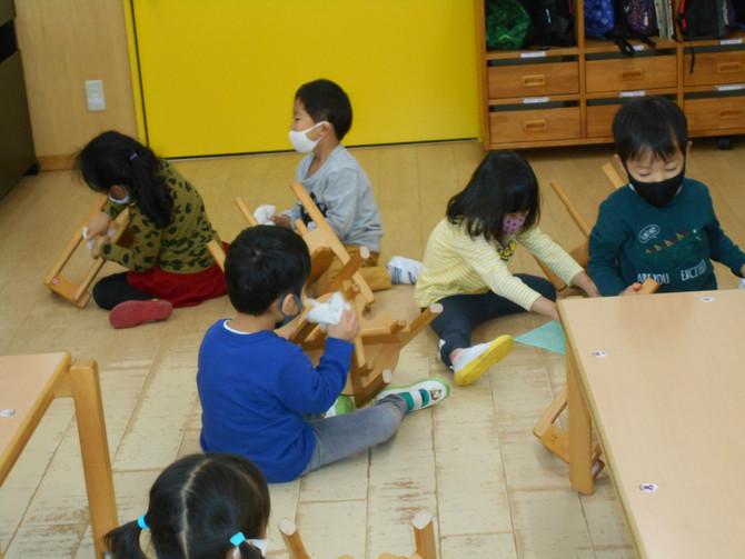幼児クラス 大掃除
