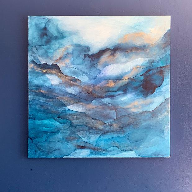 Relaxing art an original abstract painting by christina sadler gloucester