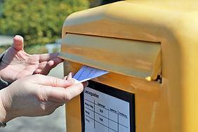 Briefkasten Postauflieferung