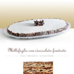 millefoglie con cioccolato fondente