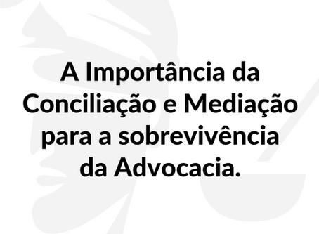 A Importância da Conciliação e Mediação para a sobrevivência da Advocacia.